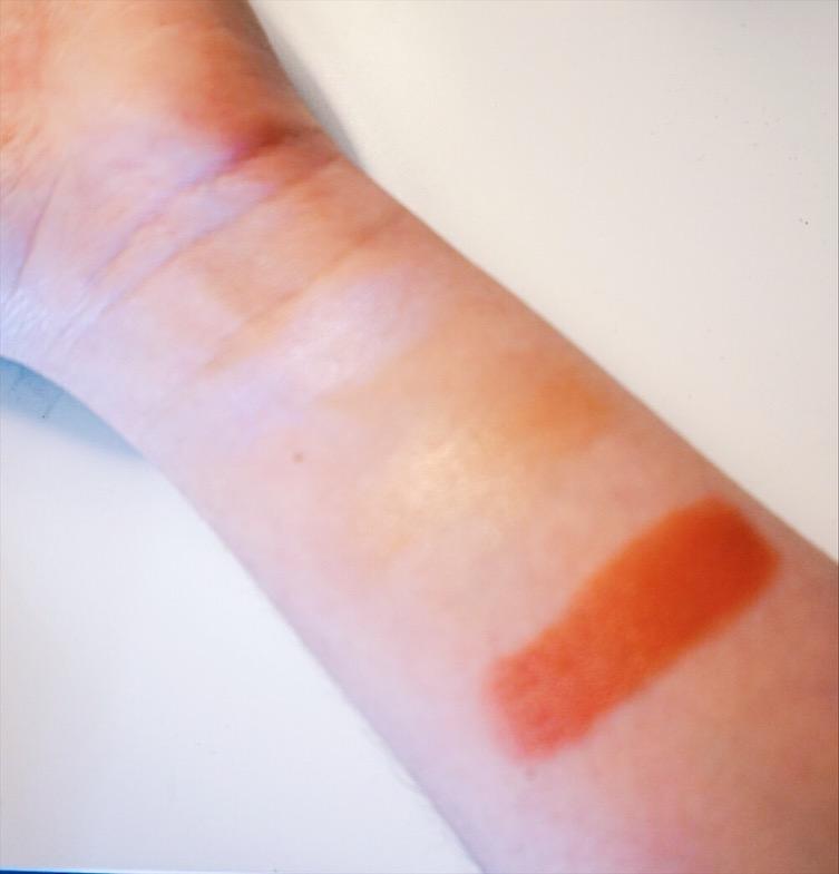 Swatches of Milk Makeup's Holographic Highlighter, Lit Highlighter, Werk Lip + Cheek
