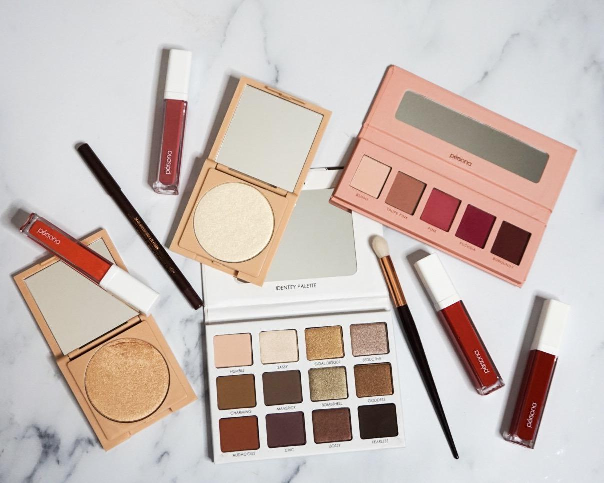 Yearlong Beauty Low Buy Update #2   Persona Cosmetics Mini Haul   Persona Cosmetics Liquid Lipsticks, Lip Glosses, Cali Glow Highlighters, Identity Palette, Pink Color Theory Kit