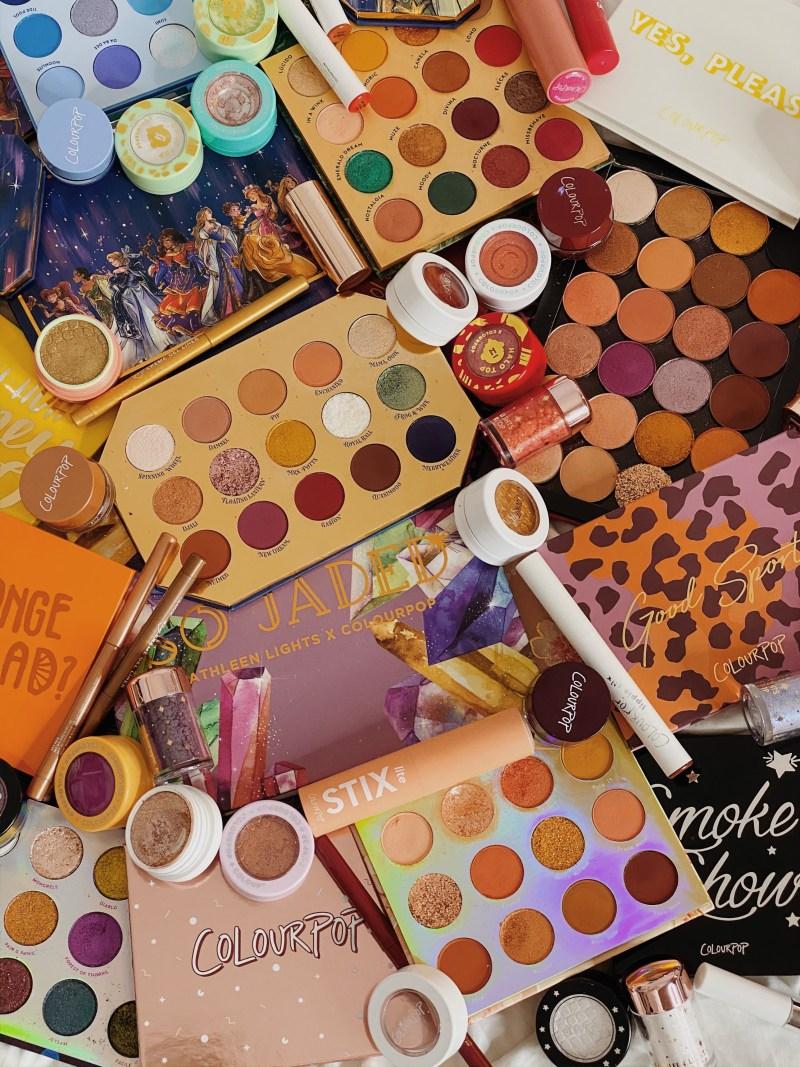 Beauty Inventory & Project Pan 2020 Goals | ColourPop Overload