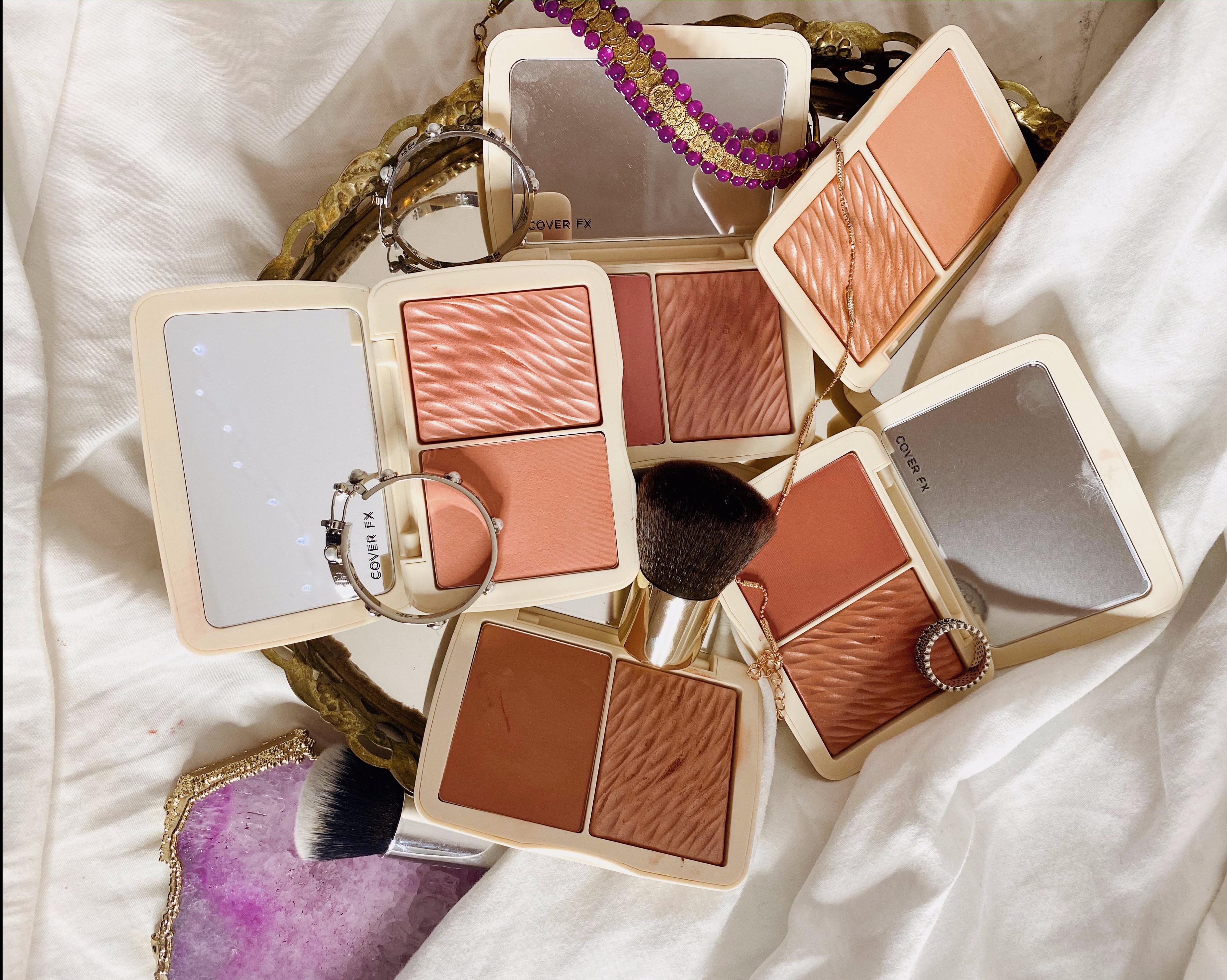 Cover FX Monochromatic Blush Duo Review - Soft Peach | Pink Dahlia | Mojave Mauve | Warm Honey | Spiced Cinnamon