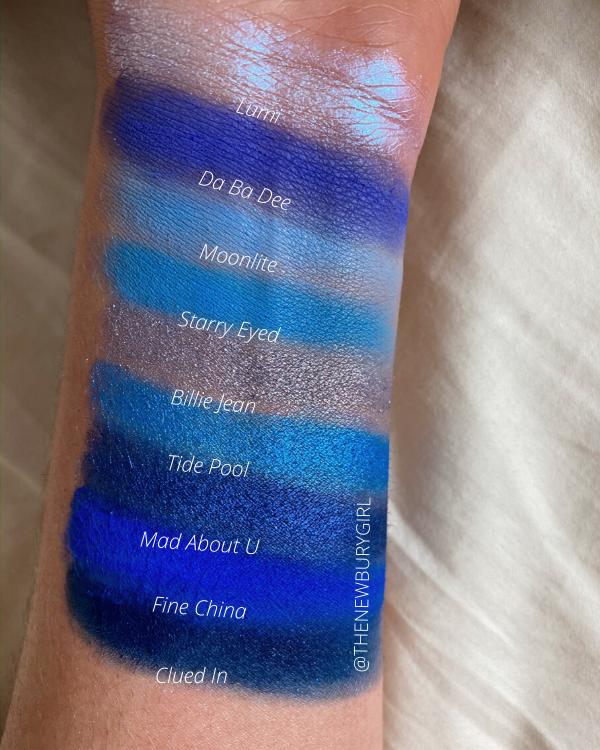 ColourPop Monochromatic Palette Collection Ranking | ColourPop Blue Moon Palette Swatches