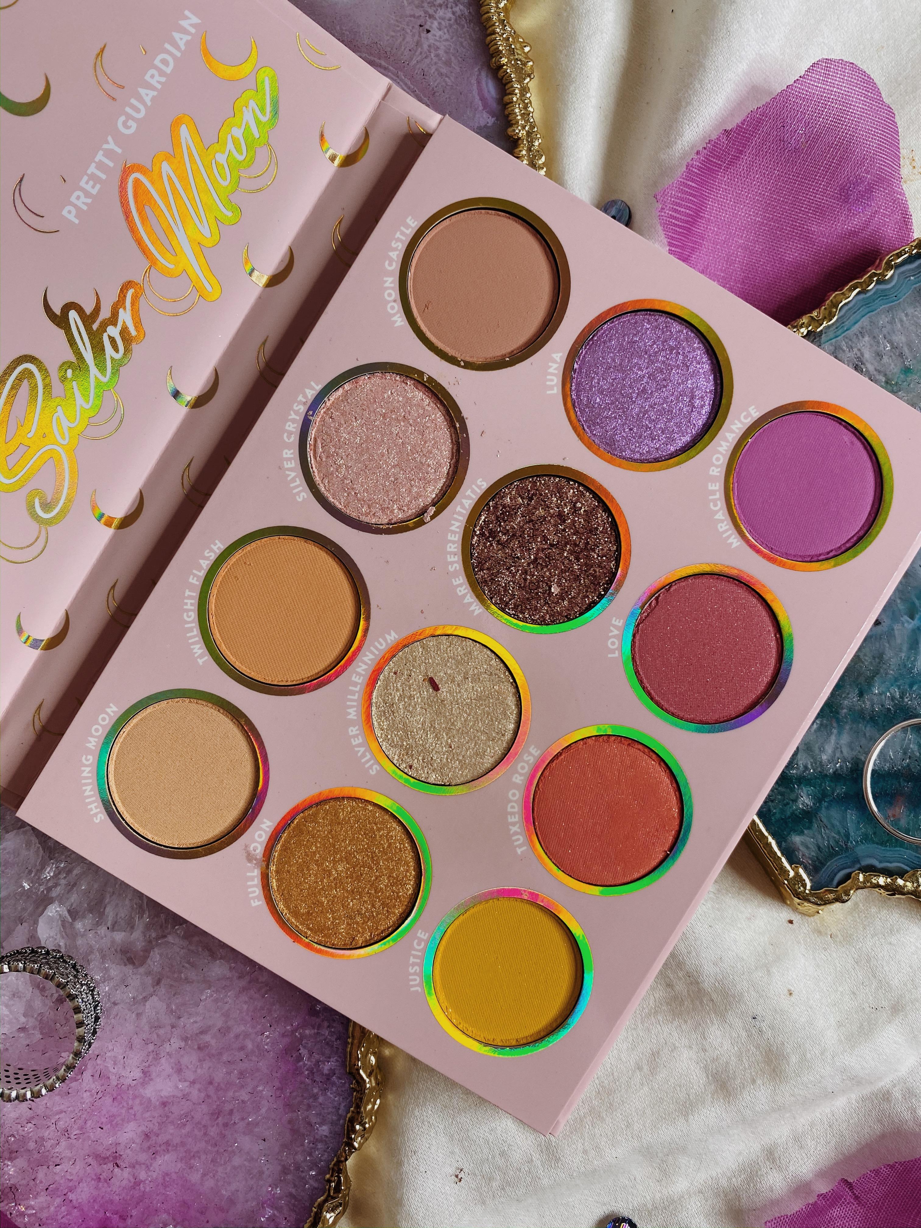 ColourPop Eyeshadow Palette Collection Ranking | ColourPop x Sailor Moon Pretty Guardian Palette