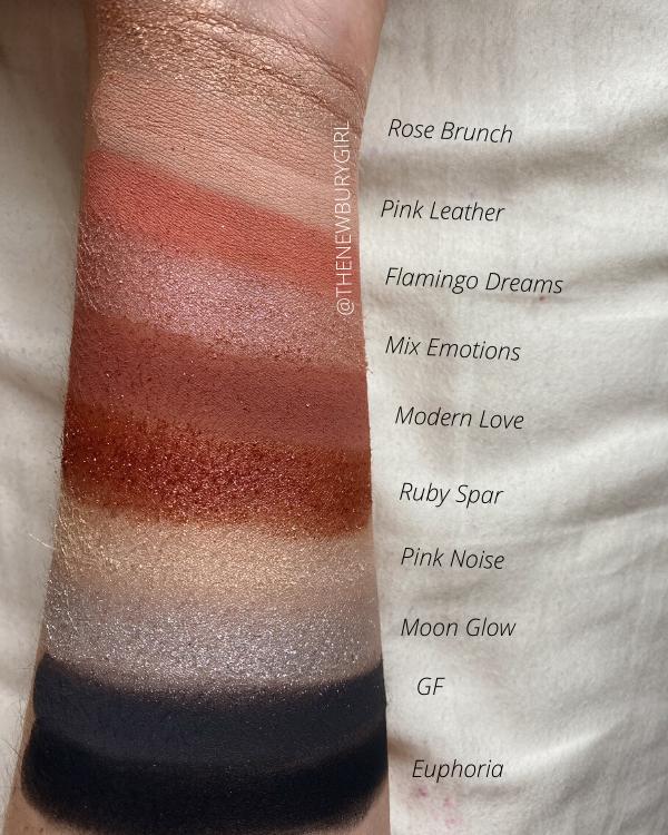 Melt Cosmetics Palette Ranking | Melt Cosmetics Millennial Pinx Palette Swatches