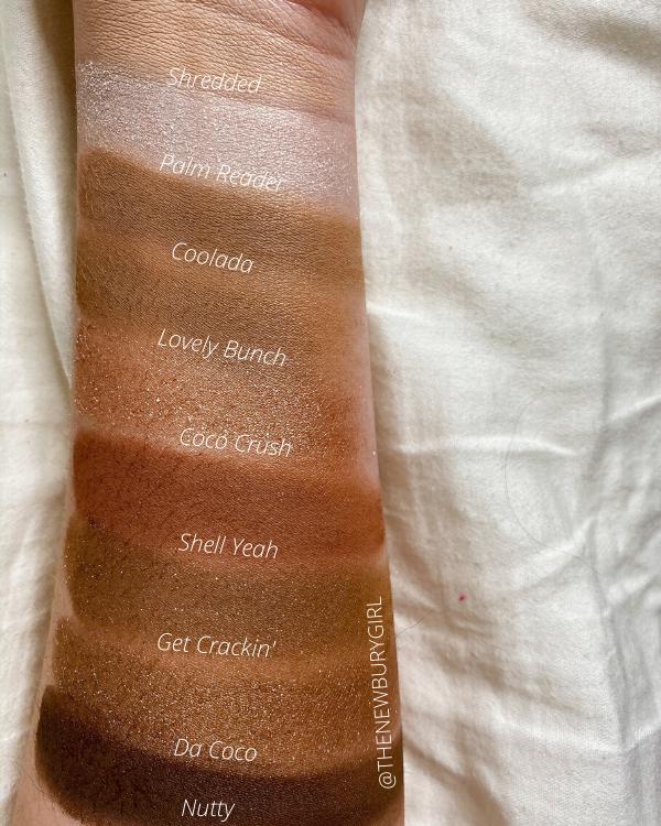 ColourPop Monochromatic Palette Ranking | ColourPop Going Coconuts Palette Swatches
