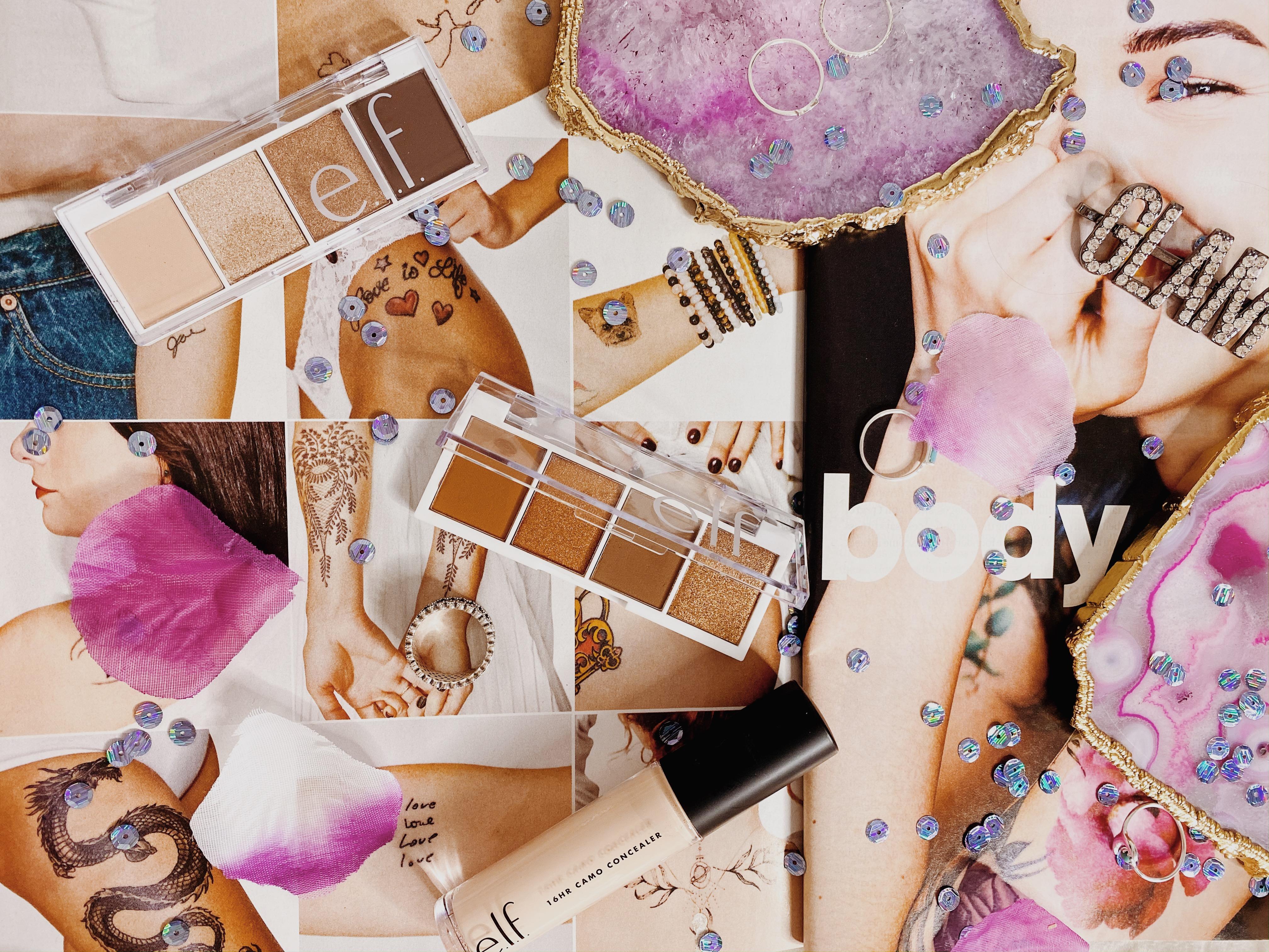 e.l.f. cosmetics pumpkin spice bite sized palette review | cream and sugar bite sized palette | e.l.f. cosmetics 16 hour camo concealer | e.l.f. and essence palette ranking