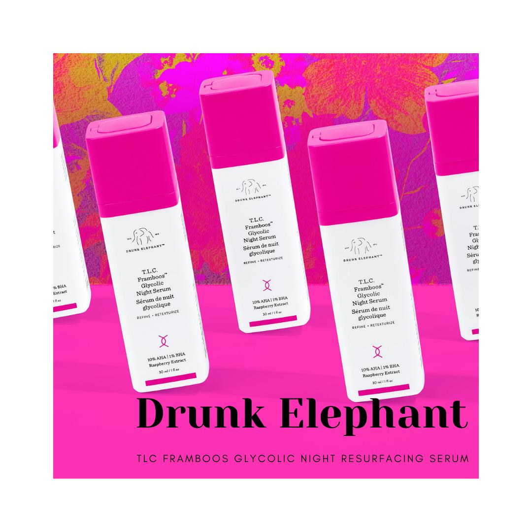 Drunk Elephant TLC Framboos Glycolic Night Resurfacing Serum
